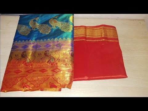 Diwali special model blouse back neck design cutting and stitching /paithani blouse design