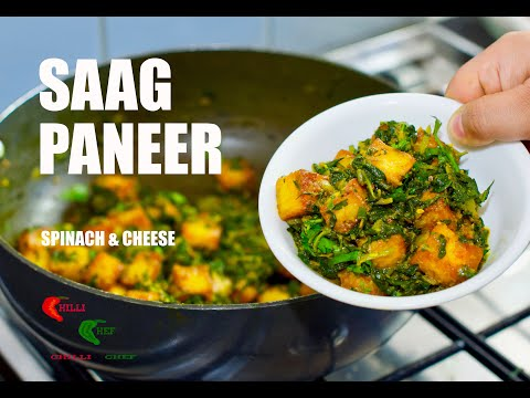 saag-paneer-recipe-by-chilli-chef-spinach-&-cheese