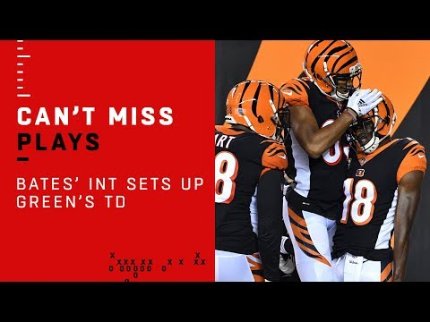 A.J. Green\'s Early TD Set Up by Jessie Bates\' INT