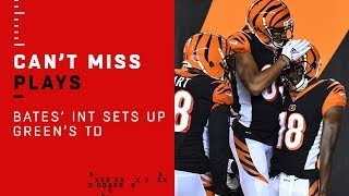 A.J. Green's Early TD Set Up by Jessie Bates' INT