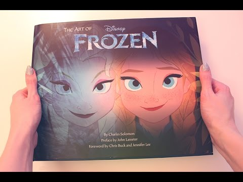 Touring the Art of Frozen Book (ASMR whispering, page turning, paper sounds)