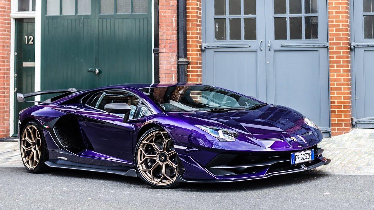 Lamborghini Aventador SVJ With Custom Viola Aletheia Paint