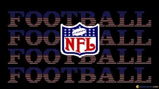 NFL Football gameplay (PC Game, 1992)