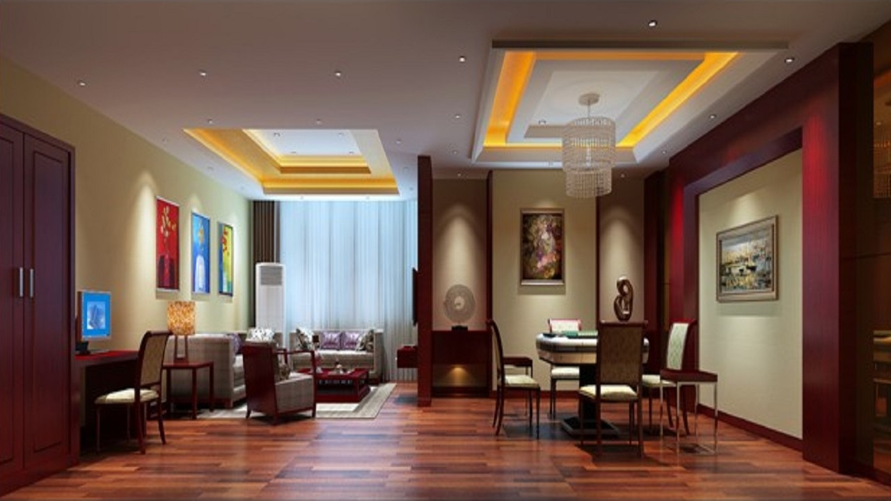 Ceiling designs for living room of apartment for Interior design apartment living room