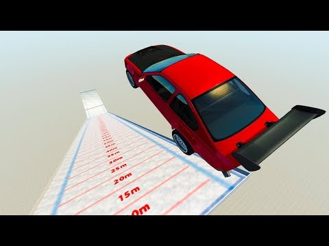 WHICH CAR CAN FLY THE FURTHEST ON SKI JUMP MAP! - BeamNG Drive