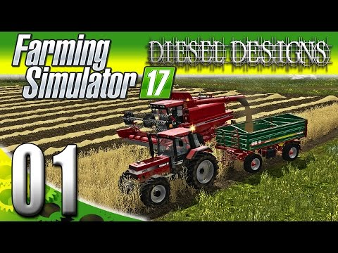 Farming Simulator 2017 Gameplay :EP1: Welcome to Diesel Farms! (PC HD Goldcrest Valley)