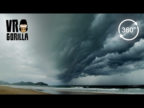 360° Timelapse of Storm over Coastline of Sian Ka'an Reserve, Mexico