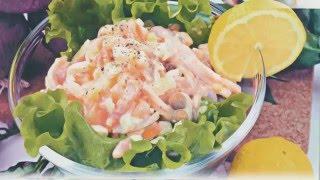 Новогодние салаты новые рецепты салатов на НОВЫЙ ГОД  2016 Праздничный салат c кальмарами рецепт NEW