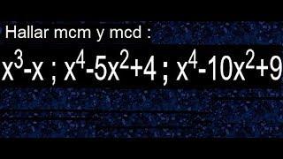 Mínimo común múltiplo de polinomios y máximo común divisor de polinomios