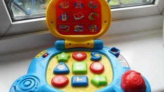 VTECH BABY KINDERGARTEN LEARNING LAPTOP FOR ENGLISH PHONICS, SHAPES, SONGS AND MUSIC
