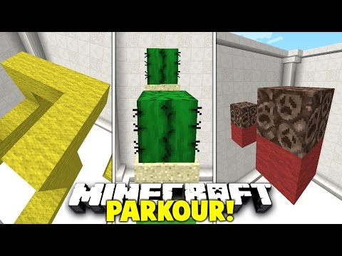 Minecraft / RED / YELLOW / GREEN / PARKOUR #2 With PrestonPlayz & Kenny