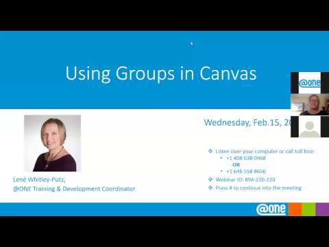 @ONE Webinar Using Groups in Canvas 2-15-2017