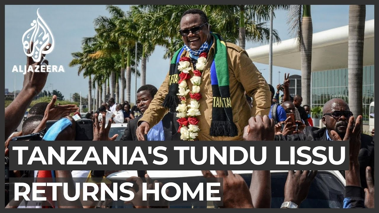 Download Tanzania opposition figure Tundu Lissu returns from exile