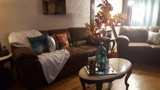 Fall decor living room tour & dining room table scape