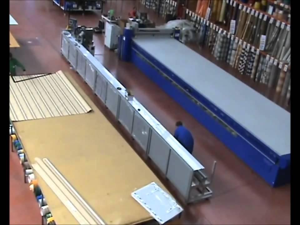 Montaje y puesta a punto de la nueva m quina de fabricar for Maquina para toldos