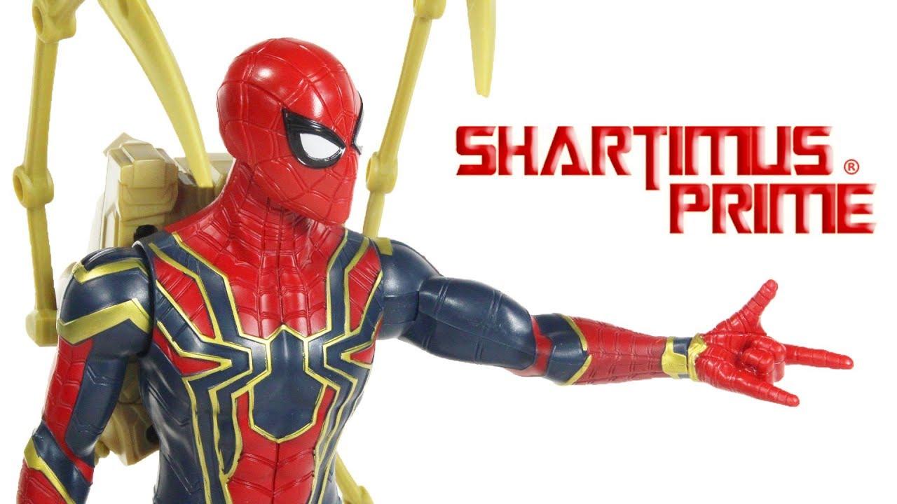 Marvel Titan Hero Series Iron Spider Spider-Man 12-Inch Scale Action Figure New