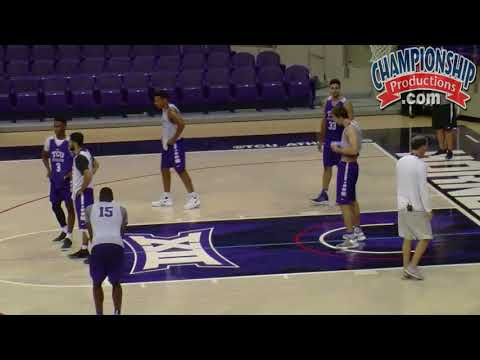 TCU Basketball Zone Defense And Offense Practice!