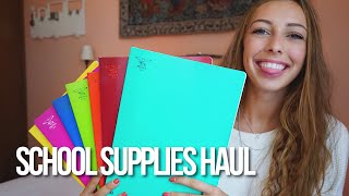 school supplies haul and giveaway