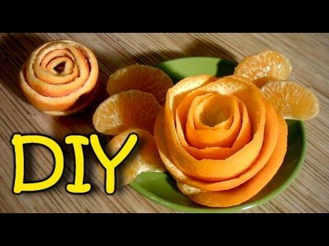 How To Make A Rose From Orange Peel - DIY Orange Rose
