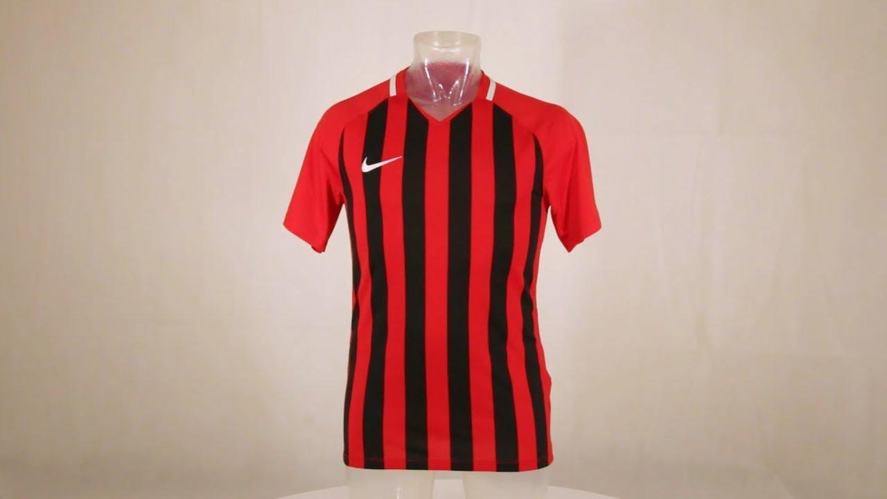 8fa0f0c6f4 Nike Striped Division III Short Sleeve Senior Football Shirt University Red /Black