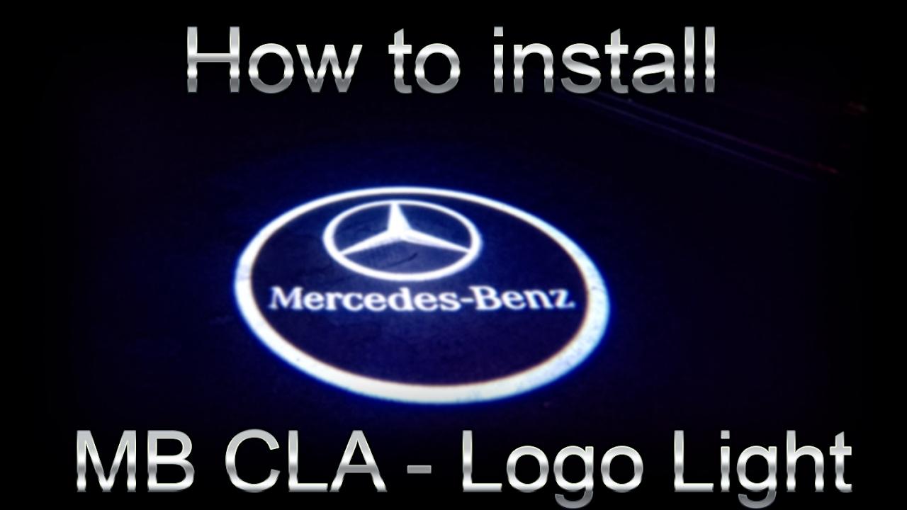 Mercedes cla logo light install youtube for Mercedes benz light up emblem