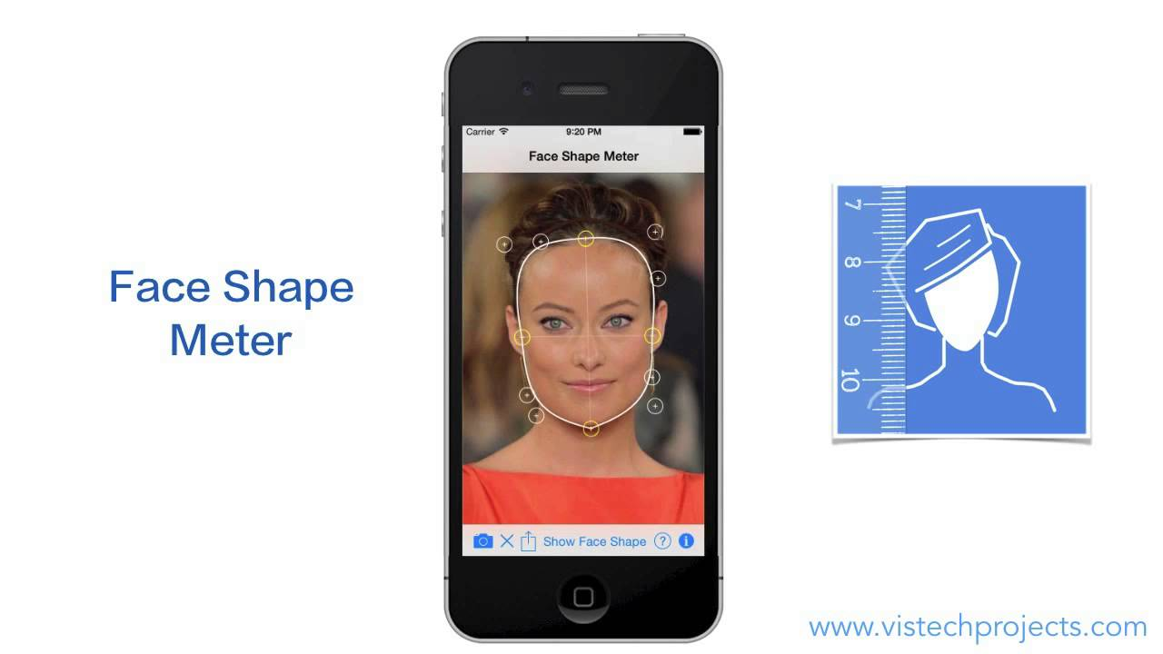 what is my face shape? quick test of face shape meter app. - youtube