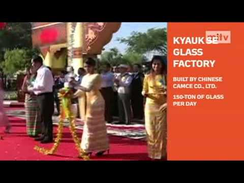 mitv - Heavy Industry: Kyauk Se Glass Factory Was Put Into Service