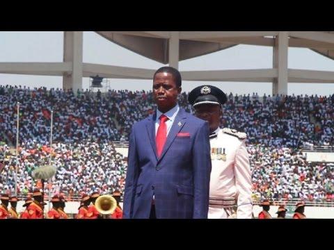 Zambia inaugurates president Lungu