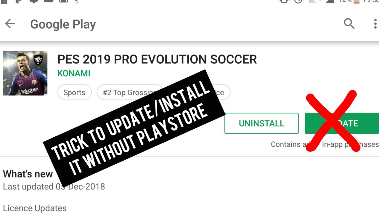 How to Download/install PES 19 MOBILE without Playstore