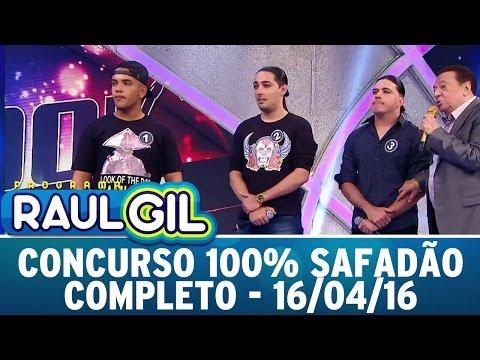 Programa Raul Gil (16/04/16) - Concurso 100% Safadão