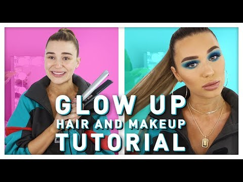 Glow Up Makeup + My GO TO Long Pony Tutorial thumbnail