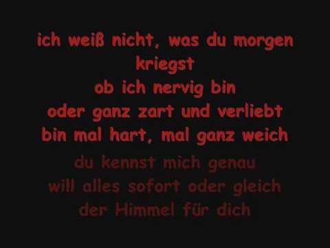 LaFee - Ich Bin Ich - Lyrics