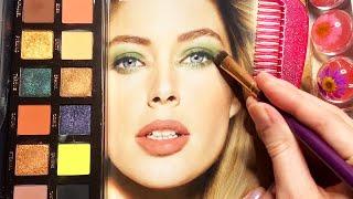 ASMR Applying Makeup to Magazi…