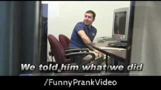 Office April Fools Computer Prank(Funny April fools day computer prank in the office! Video re-uploaded by: