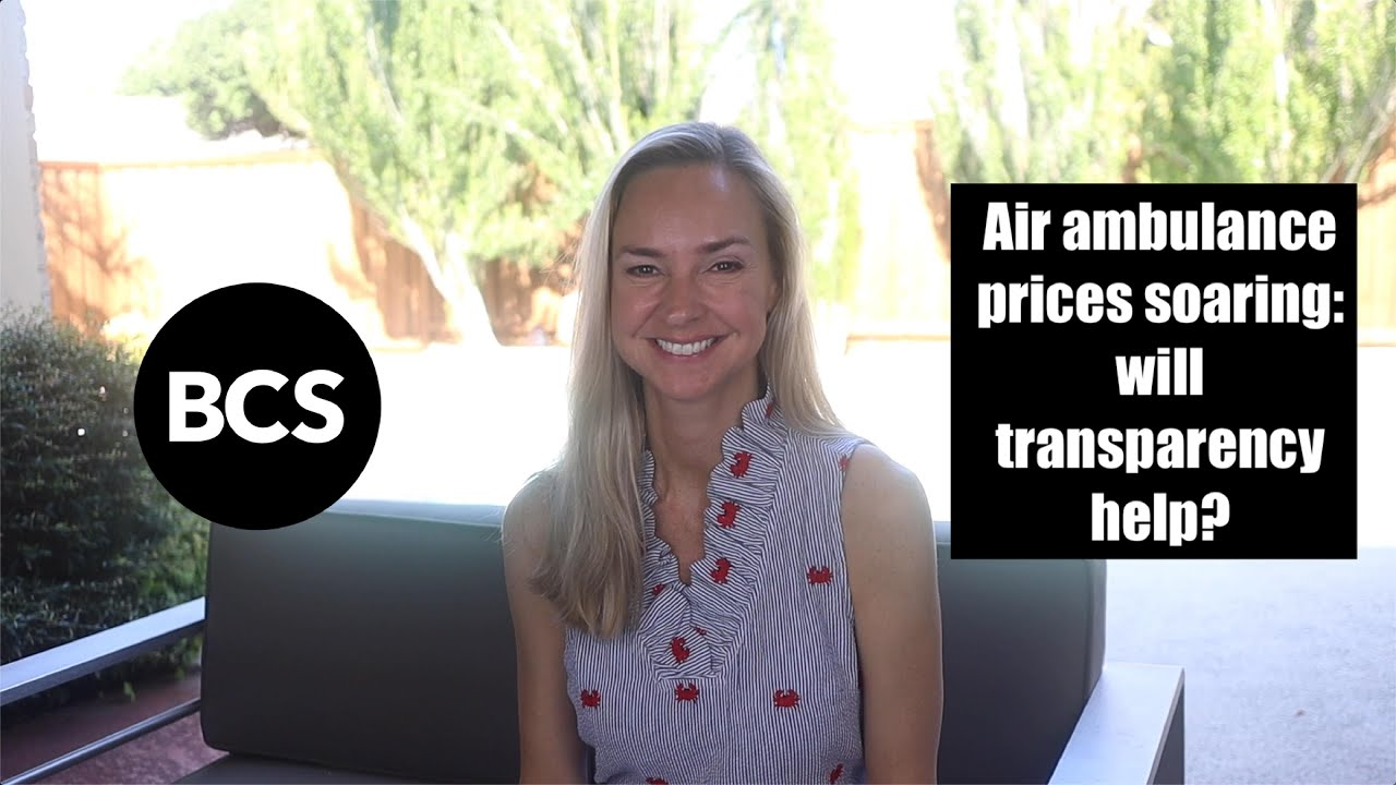Air ambulance prices soaring: will transparency help?