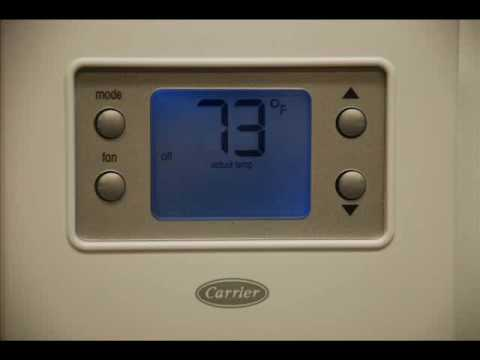 tutorial carrier comfort series non programmable thermostat unique rh youtube com Carrier Thermostat Troubleshooting Carrier Programmable Thermostat
