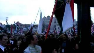 Magyarok Szövetsége Zászlóbontó A zászlónk bejövetele