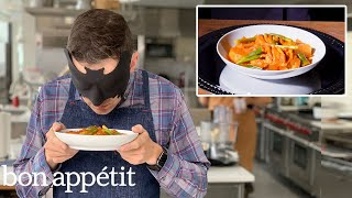 Download Recreating Maangchi's Dakbokkeumtang (Spicy Braised Chicken) From Taste | Bon Appétit Mp3 and Videos