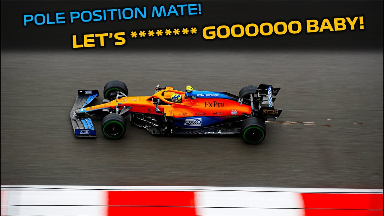 Download Lando Norris reacting to maiden Pole Position in F1 after a dramatic  qualifying at Sochi
