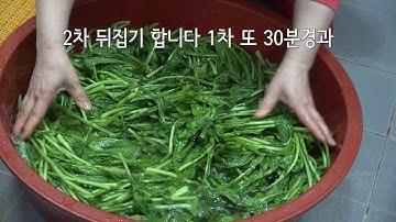 질긴열무도 부드럽게 쓴맛은 제거 열무김치는 아삭아삭 맛있게 담는법 /비법공개