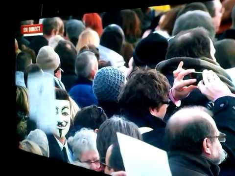 Un anonymous à la marche pour la répubblique