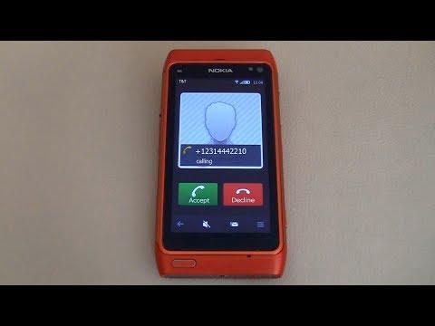 NOKIA N8 incoming call