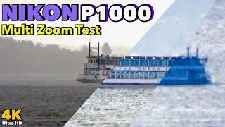Nikon P1000 4K - Multi Zoom Test