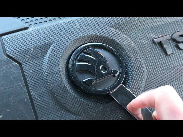 What is really hidden under Skoda badge on engine covers?