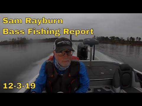 Ken Smith Fishing Sam Rayburn Bass Fishing Report 12 3 19