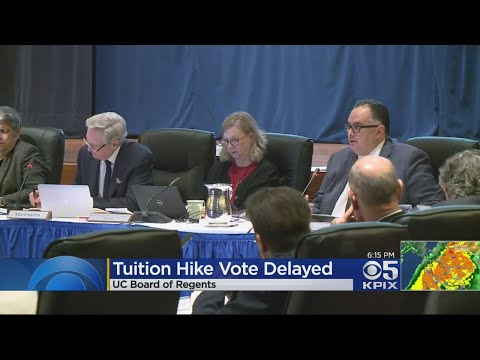 UC Board Of Regents Votes To Postpone Proposed Tuition Hike Decision