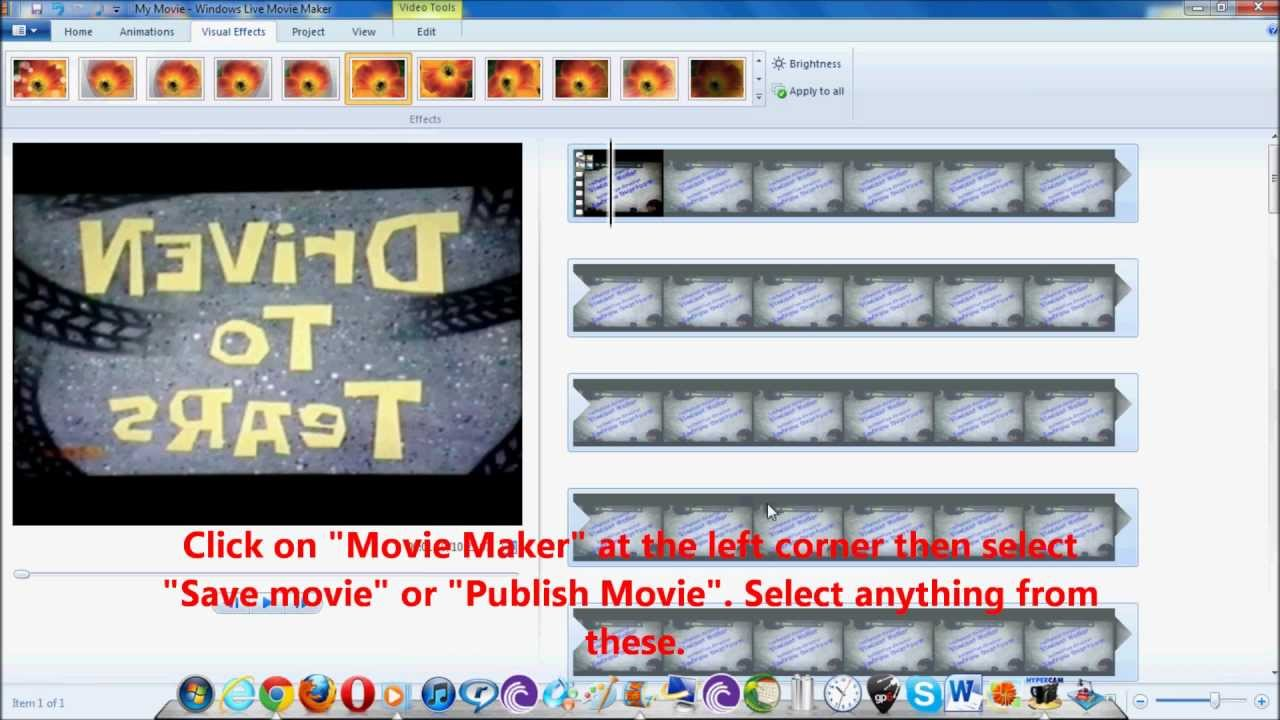 How To Mirror Videos on Windows Live Movie Maker