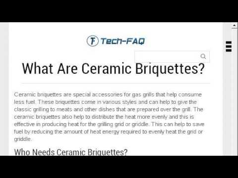 How-To Install Ceramic Briquettes