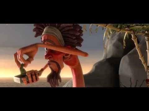 Phim Hoạt Hình Ngắn 3D Robinson ở ngoài đảo hoang