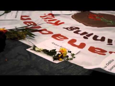 """Canadian Mining Kills"" - Activists hold a vigil held inside the world's largest mining convention"